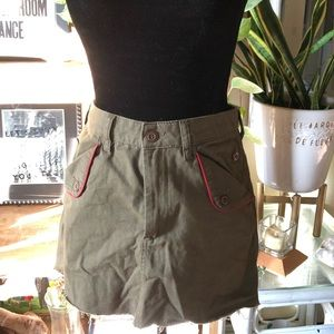 Urban Outfitterz s army green high waisted skirt